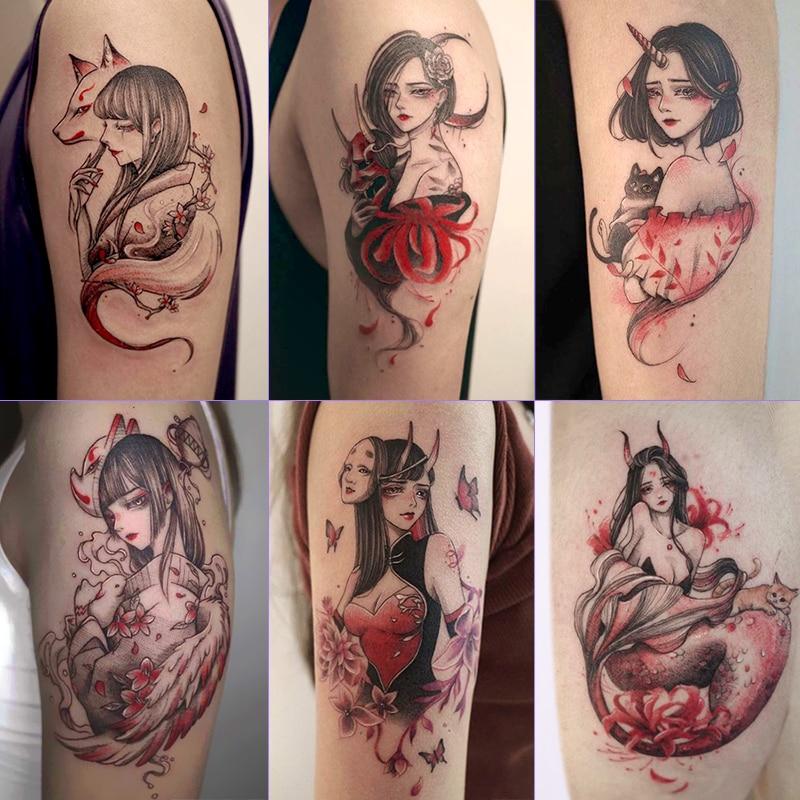 Водостойкая тату-наклейка 41-80, 3D тату, розовая бабочка, тату, тату для рук, спины, груди, ног, тату, стойкая тату-наклейка, бумага