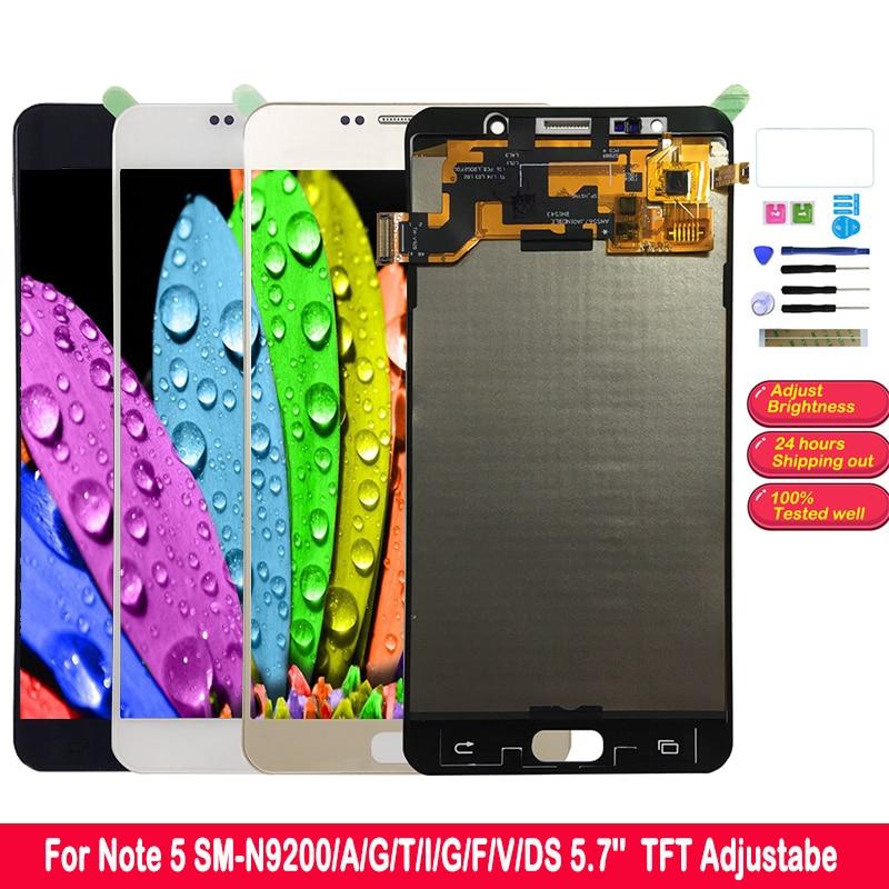 "SZMUGUA Nota 5 LCD para SAMSUNG Galaxy Nota 5 LCD MONTAJE DE digitalizador con pantalla táctil SM-N920 N920C N920A N9200 N920C TFT de 5,7"""