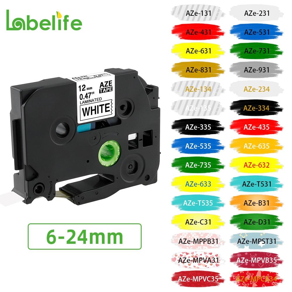 Labelife 231 label tape Compatible for Label Maker Laminated Tape 12mm Black on White for labeler 231 241 251 631 641