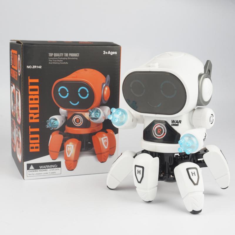 Smart Dancing Robot Electronic Walking Toys With Musical & LED Lighting Octopus Robot for kids Intelligent Kids gift enlarge