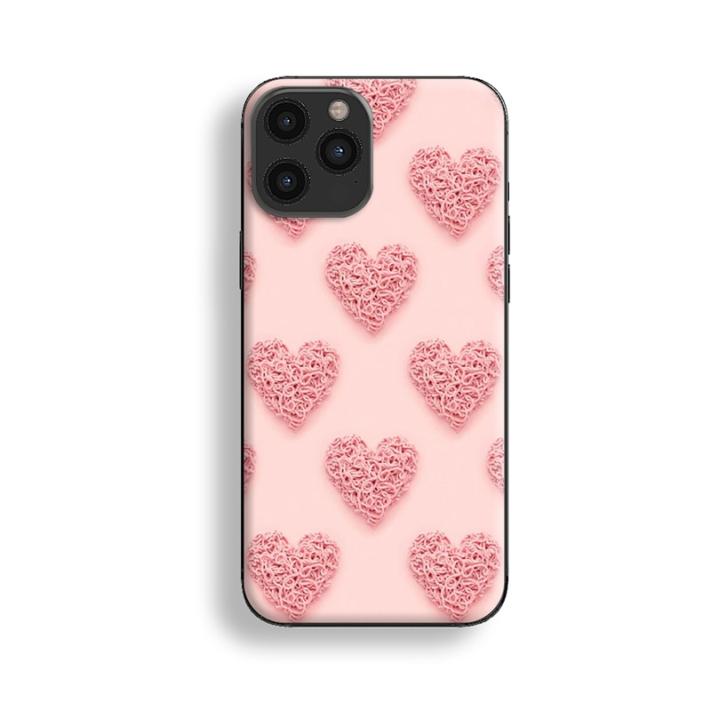 2021 Love Pattern Phone Case For iPhone 12 13 Mini 12 13 Pro Max X XR XS Max 7 8 6s Plus SE 2020 Silicone Protective Sleeve
