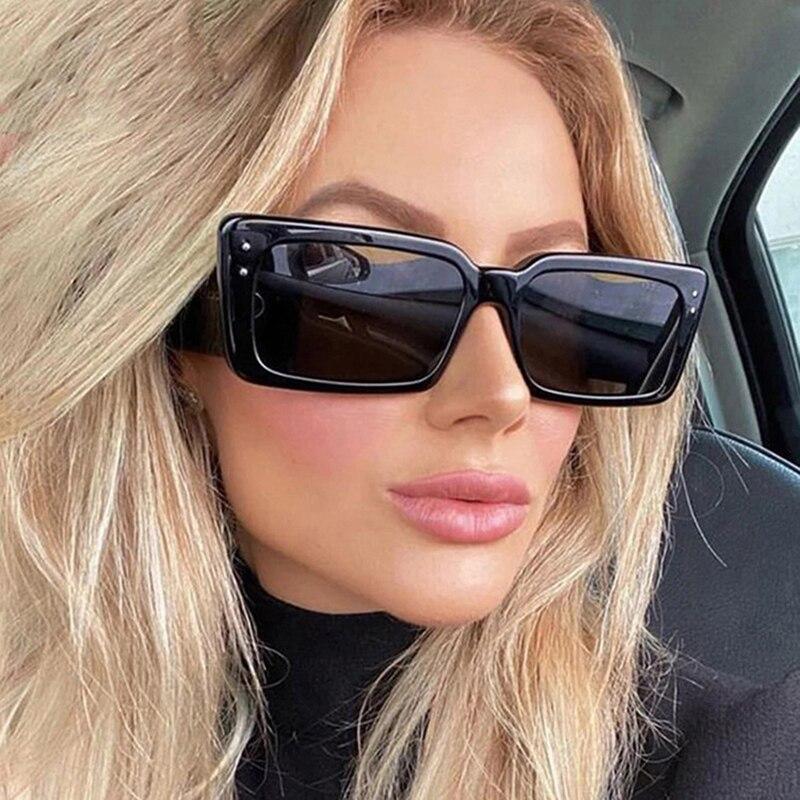 2021 Квадратные Солнцезащитные очки в стиле ретро женские винтажные солнцезащитные очки для женщин/мужчин Роскошные Брендовые очки женские ...