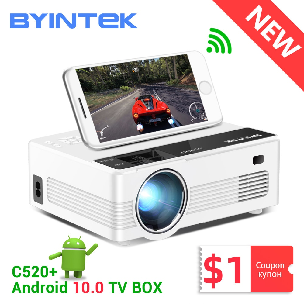 BYINTEK C520 HD 150inch Home Theater Portable LED Video Mini Projector(Optional Android 10 TV Box) f