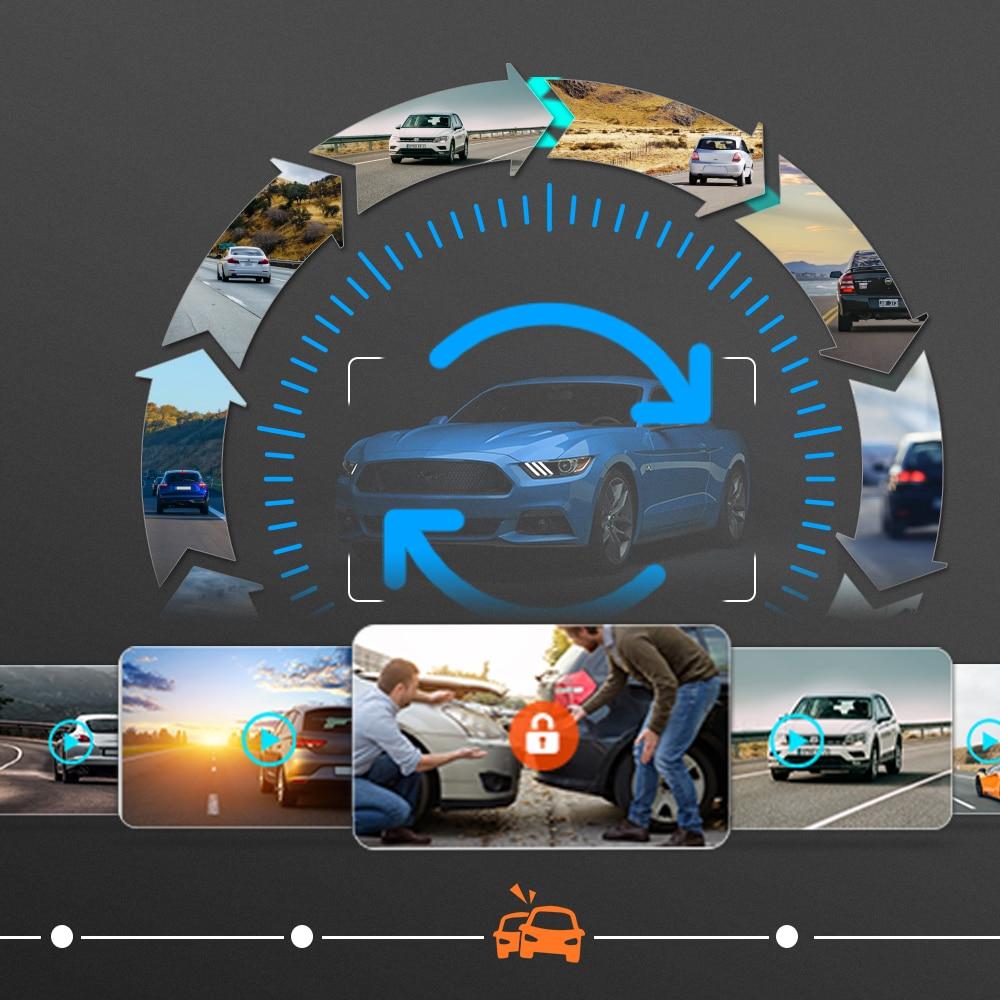 Vivilink Dashcam 4K HF12TQ 12'' Mirror Dash Cam GPS Car DVR Rear View Camera Driving Recorder 24h Parking Monitor Night Vision