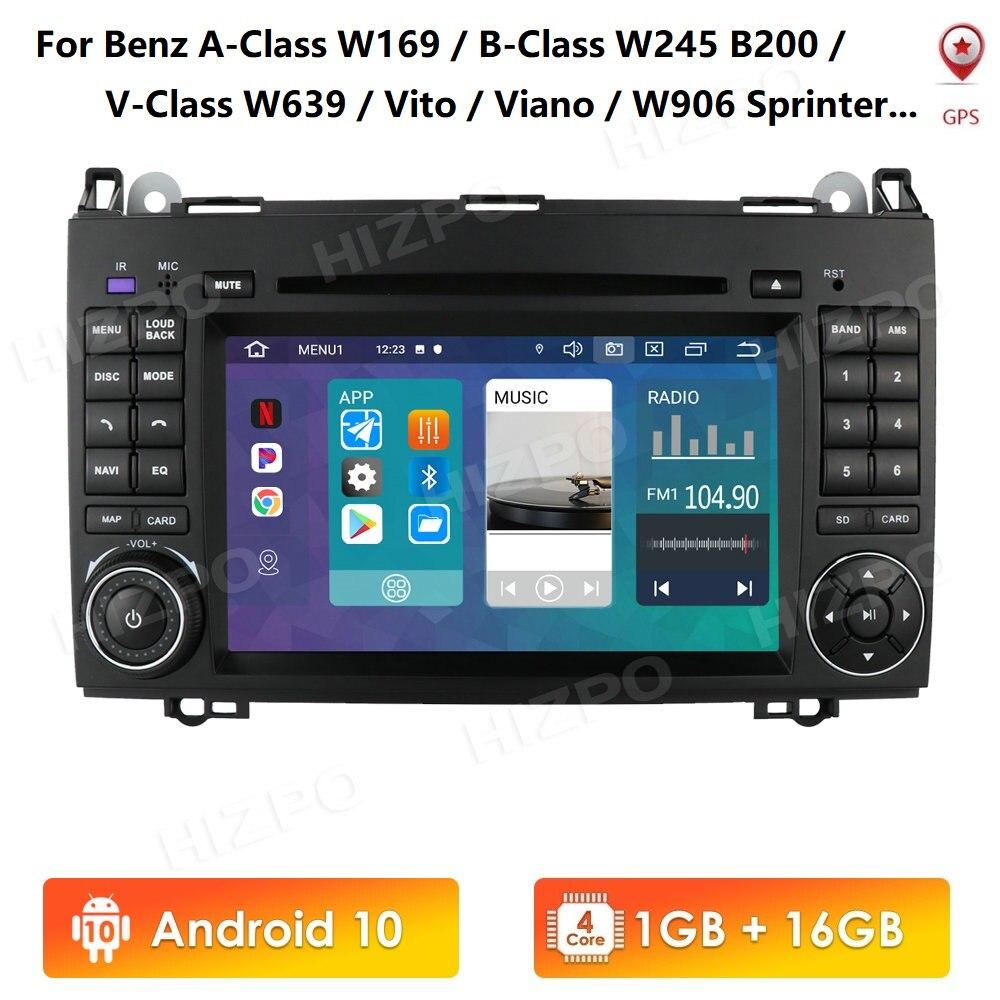 7 Inch IPS 2din Android 10 Auto GPS Radio für Mercedes Benz W906 Sprinter B200 W245 W169 W639 WIFI Auto stereo Multimedia Player