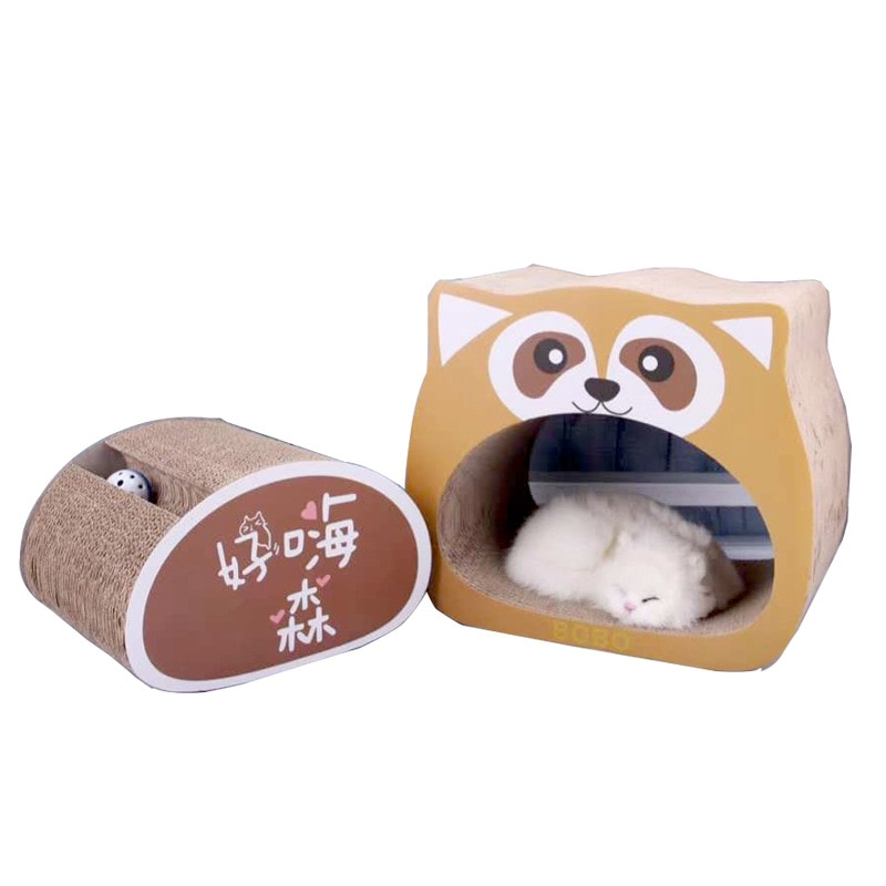 Pet corrugado gato nido rascador para gatos garra sacapuntas suministros resistente al desgaste gato cosquillas sofá Casa de gato caja de gato de juguete