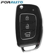 FORAUTO voiture clé à distance porte-clés étui coque remplacement 3 boutons pour Mistra Hyundai Solaris ix35 ix45 Verna Santa housse