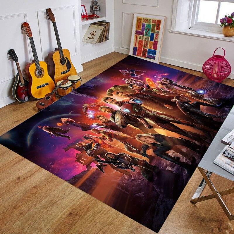 Cartoon Marvel Superhero Door Mat Baby Playmat Rug Captain America Carpet Floor Bedroom Doormat Non-slip Gift