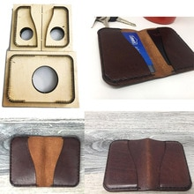 Double Sides Four Pocket Minimalist Wallet Japan Steel Blade wooden die Cutter DIY leather Template Card Holder knife mould