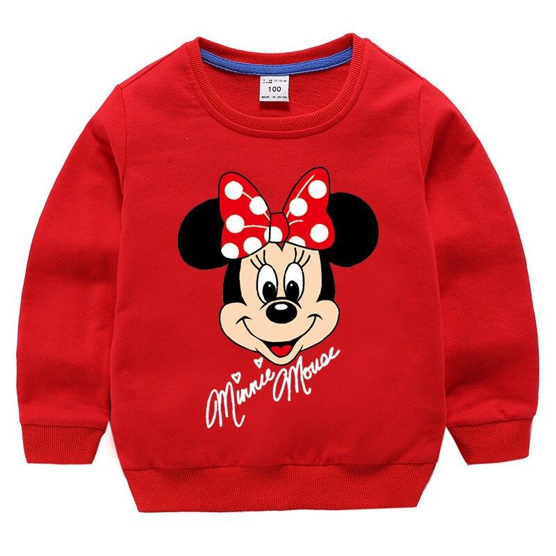 Толстовки с капюшоном для девочек с Минни, Весна Осень 100%, хлопковый пуловер, детская одежда, свитер для девочек, детские топы, одежда|Толстовки и кофты| | АлиЭкспресс