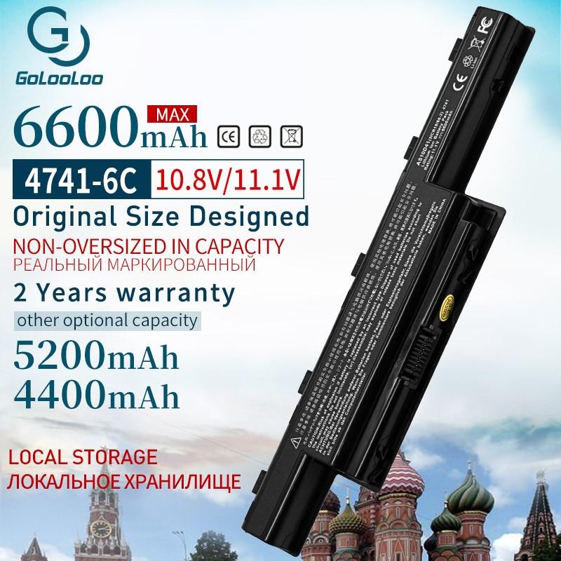 Аккумулятор AS10D31 для ноутбуков Acer Aspire, батарея 6600 мАч для Acer Aspire V3 4741, 5741G, 5742, 5551G, 5560G, 5750G, AS10D41, AS10D51, AS10G3E, AS10D61, AS10D81