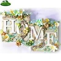 Yumeart 5D bricolage diamant peinture par numero maison douce maison plein carre couture diamant broderie mosaique fleur decorations