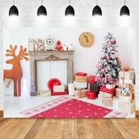 laeacco interior christmas decor tree wood floor gift blanket birthday backdrop photographic photo background for photo studio
