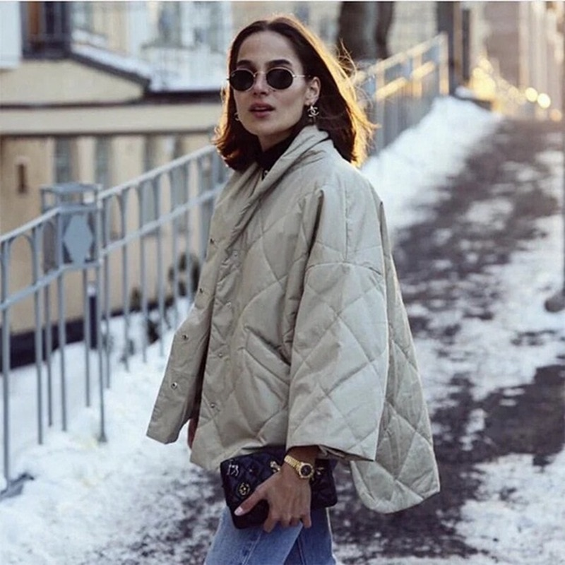FAKUNTN Women Winter 100% Cotton Coat Fashion 2020 New Jacket Urban Leisure Full Sleeve Length Solid Button Female Ladies Coat