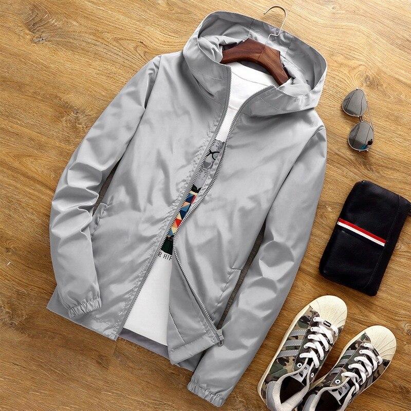 Мужская жакет осень-весна модный принт Тонкий Топ Мужская Повседневная бейсбольная куртка-бомбер на молнии мужская куртка большого размера 7XL