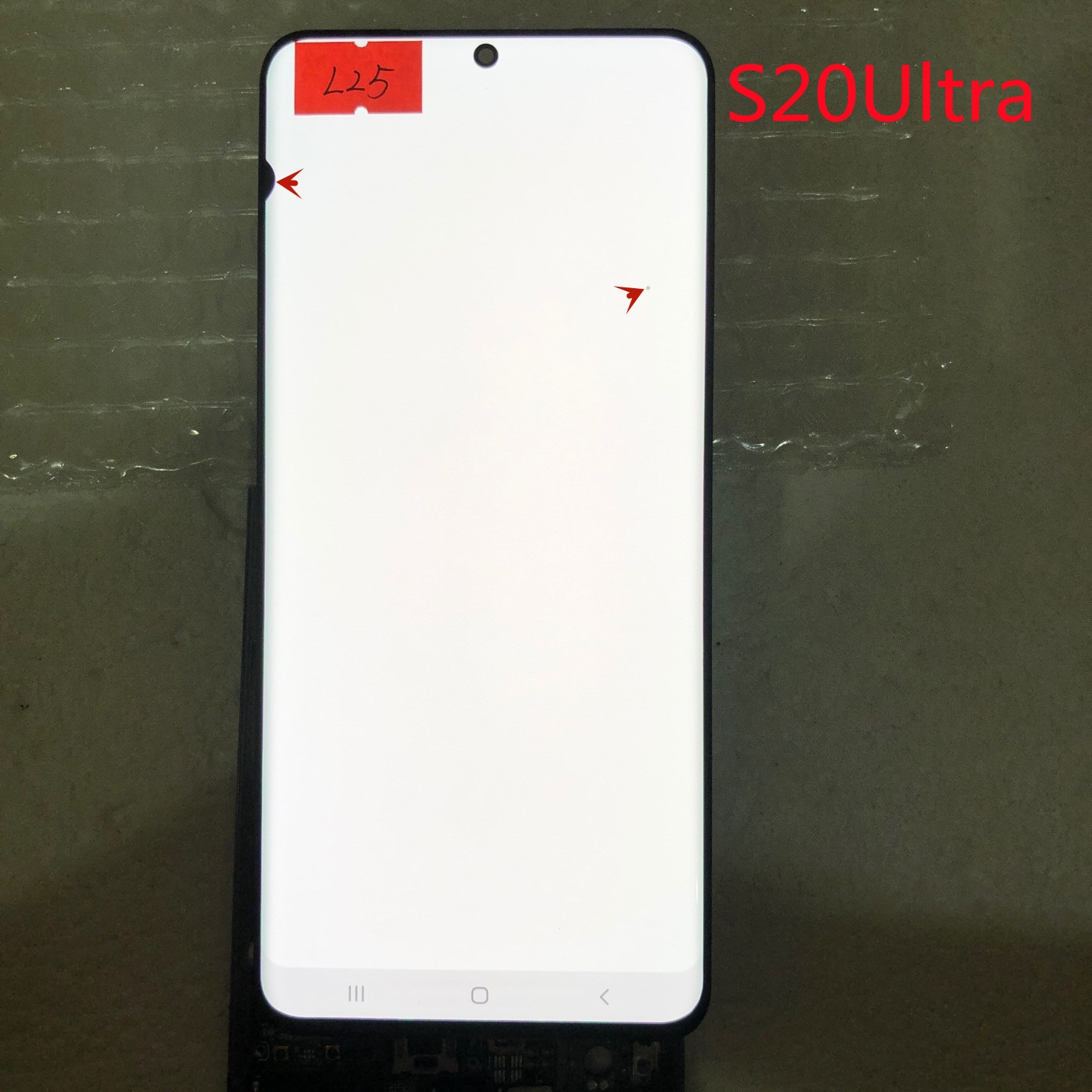 For Samsung Galaxy S20Ultra LCD G988, G988F, G988B/DS, with frame display touch screen digitizer with line or black dots enlarge