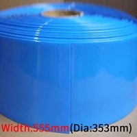 dia 353mm pvc heat shrink tube width 555mm lithium battery insulated film wrap protection case pack wire cable sleeve black blue