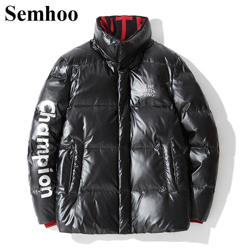 Мужская зимняя пуховая куртка для девочек Повседневная яркая поверхность толстые теплые Простые короткие 90% пуховая мужская куртка из пуха...