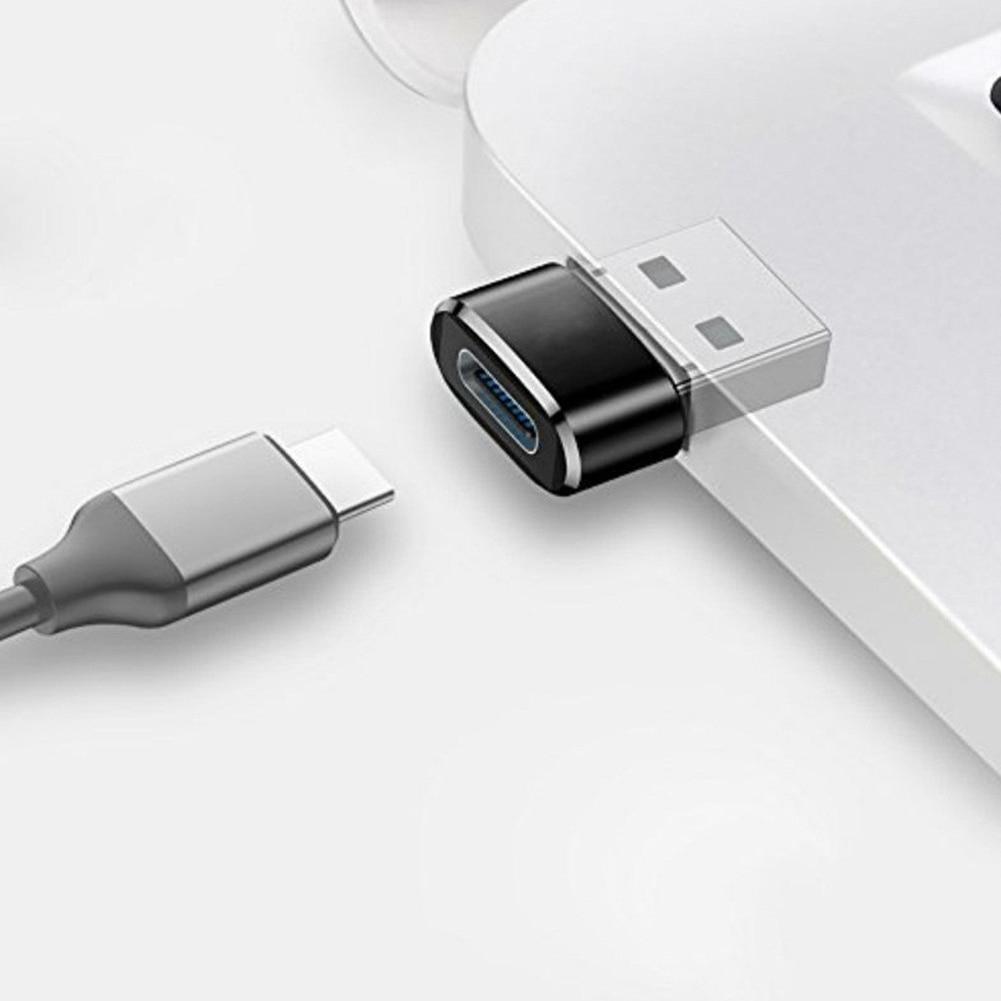 2 pces usb c fêmea para usb adaptador masculino tipo c para usb um conector para laptops carregadores dispositivo dq-drop