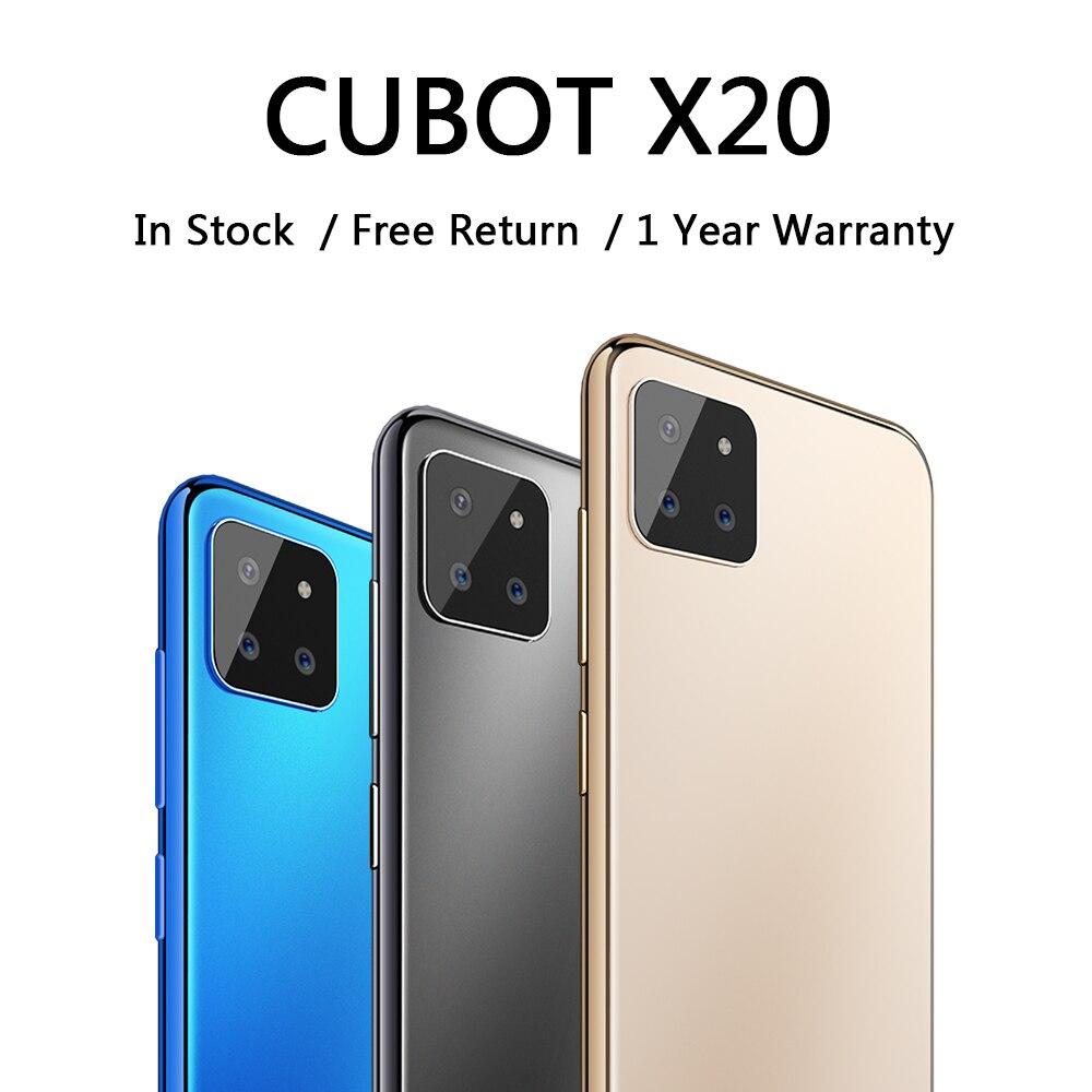 Чехол для CUBOT X20 мобильный смартфон 4000 мА/ч, Батарея AI задние тройные Камера Face ID разблокировать телефон дешевые смартфоны 2020 Android 9,0