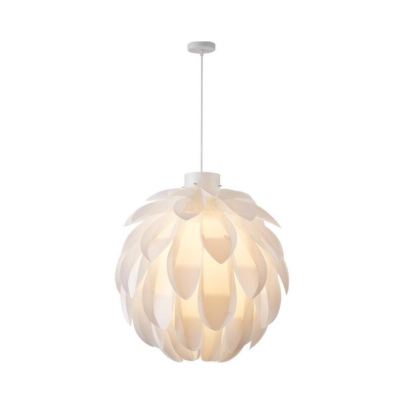 الأبيض الإبداعية قلادة أضواء الأوروبي الحد الأدنى نمط الصنوبر مخروط الثريا لغرفة النوم غرفة الطعام وغرفة المعيشة
