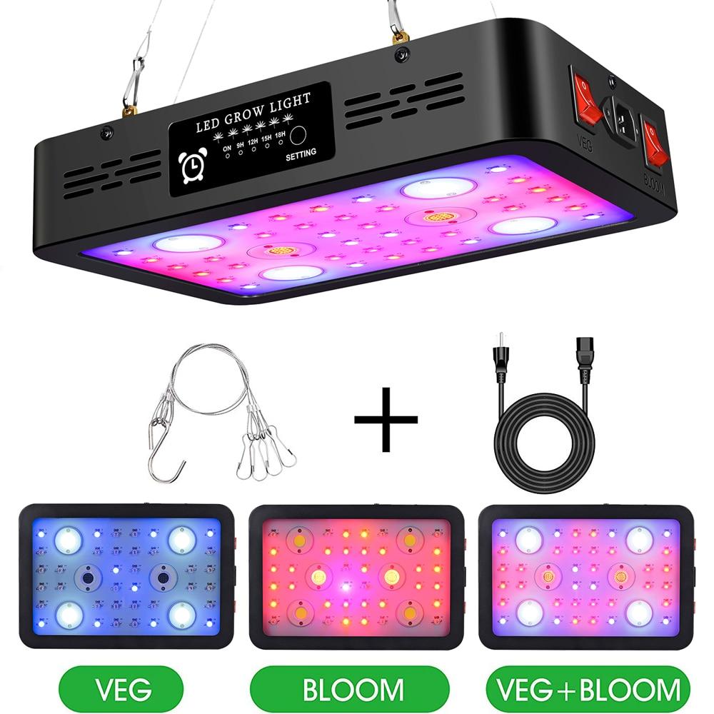 Ардва двойной переключатель 1200W/2400W/3600W COB светодиодный Grow светильник таймер светодиодный лампы Вег/цветовые режимы для комнатные растения п...