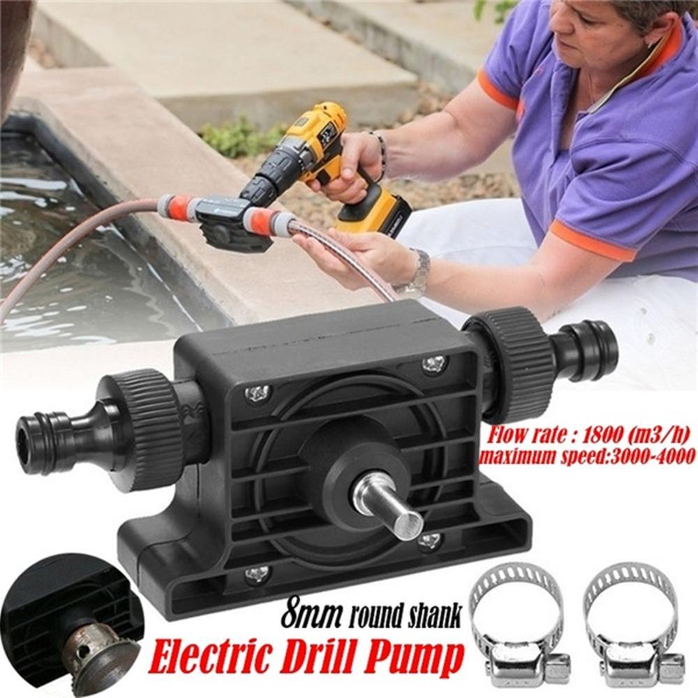 Фото - Black Hand Electric Drill Pump Miniature Self-priming Pump Household Small Water Pump Hand Drill Drive Pump Diesel Pump pump