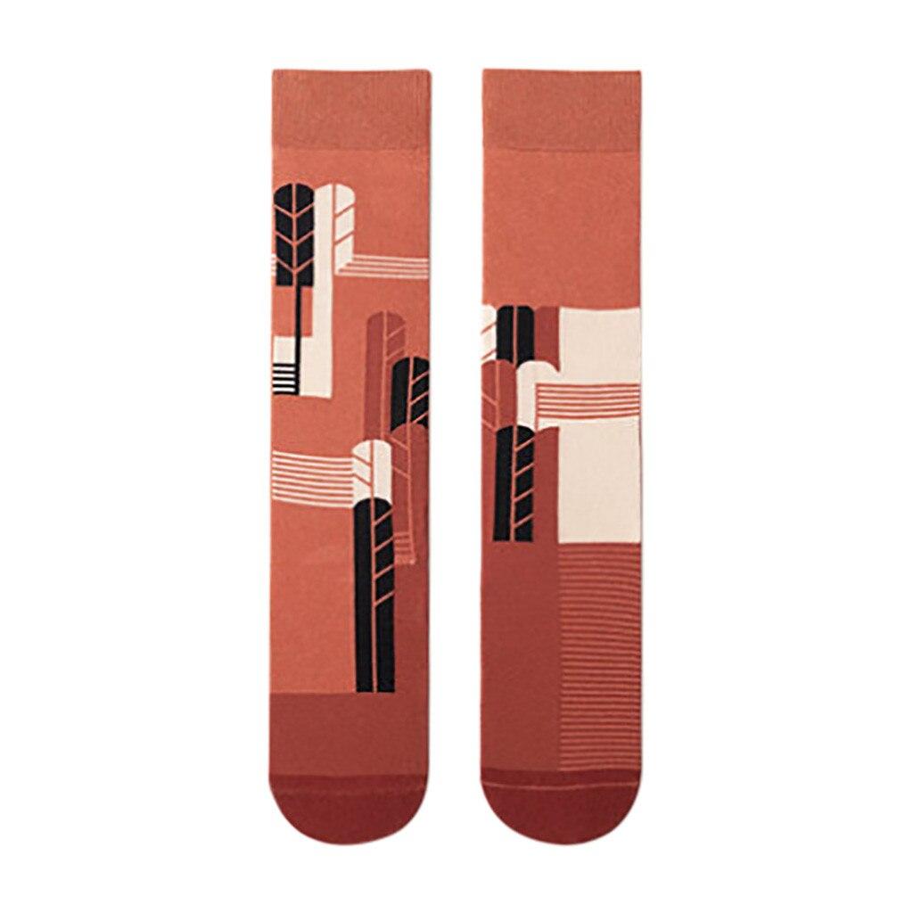 Calcetines para mujer creativos estampados largos calcetines tubo rodilla Casual algodón calcetín Casual femenino cálido calcetín Jibbitz encanto #3