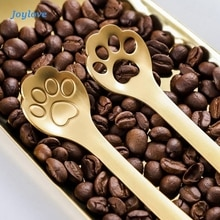 JOYLOVE Cute Cat Claw Coffee Spoons Fruit Fork Dessert Spoon Candy Tea Spoon Cat Drink Tableware Kitchen Supplies