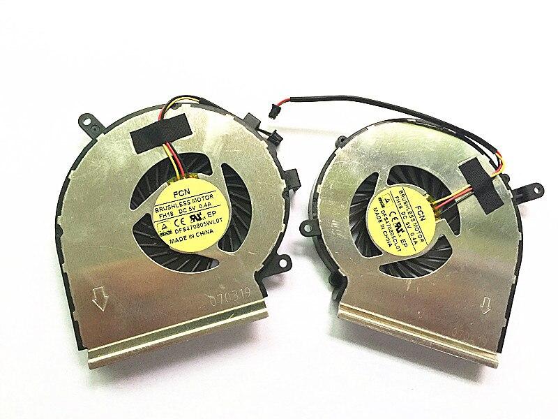 SSEA al por mayor Nueva CPU GPU ventilador de refrigeración para MSI GE62 GE72 GL62 GL72 GP62 GP72 PE60 PE70 envío gratis