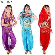 Costumes de danse du ventre enfants danse orientale filles danse du ventre inde danse du ventre ensemble vêtements danse du ventre enfant enfants indien 6 couleurs
