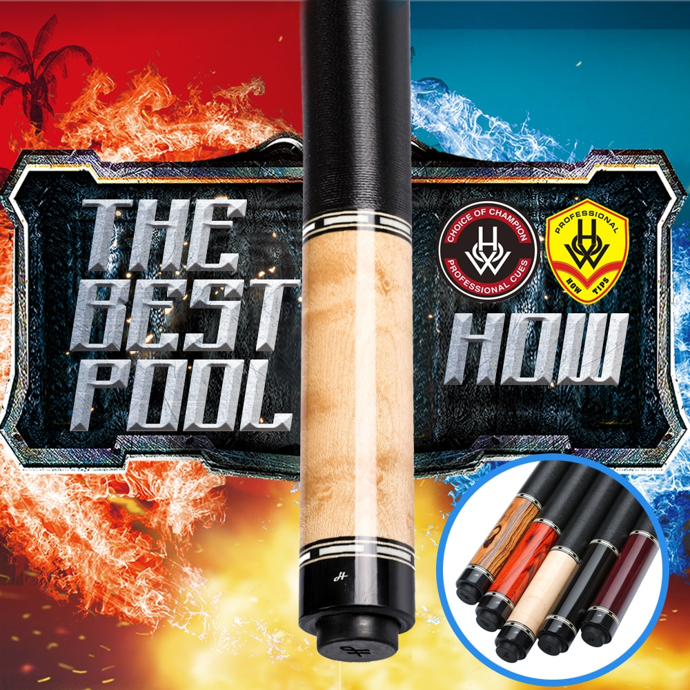 HOW Official Store Original HOW Cue ZR Pool Cue All Handmade Professional Pool Billiard Black 8 Cue For Athletes Use 13mm Tip