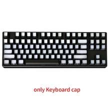 104 مفتاح ضوء شفاف نقل الكمبيوتر الألعاب استبدال ارتداء مقاومة DIY بها بنفسك Keycap الجانب المطبوعة مريح 2 لهجة