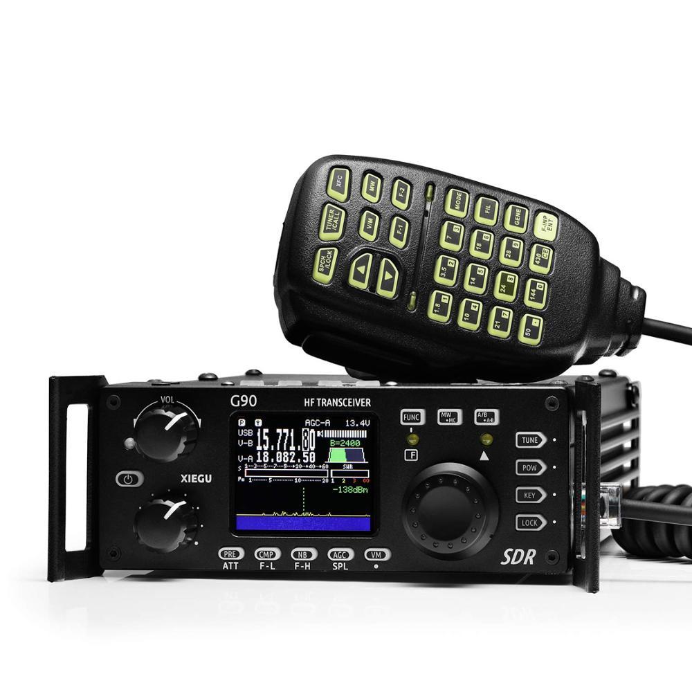Xiegu G90 G90S HF SDR transmisor de radio amateur 20W SSB/CW/AM/FM 0,5-30 MHz, 12-15V SDR estructura con-en Auto sintonizador de antena