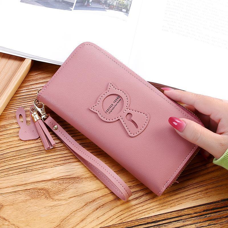 New Long Women's Wallet Female Purses Tassel Coin Purse Card Holder Wallets Female Pu Leather Clutch