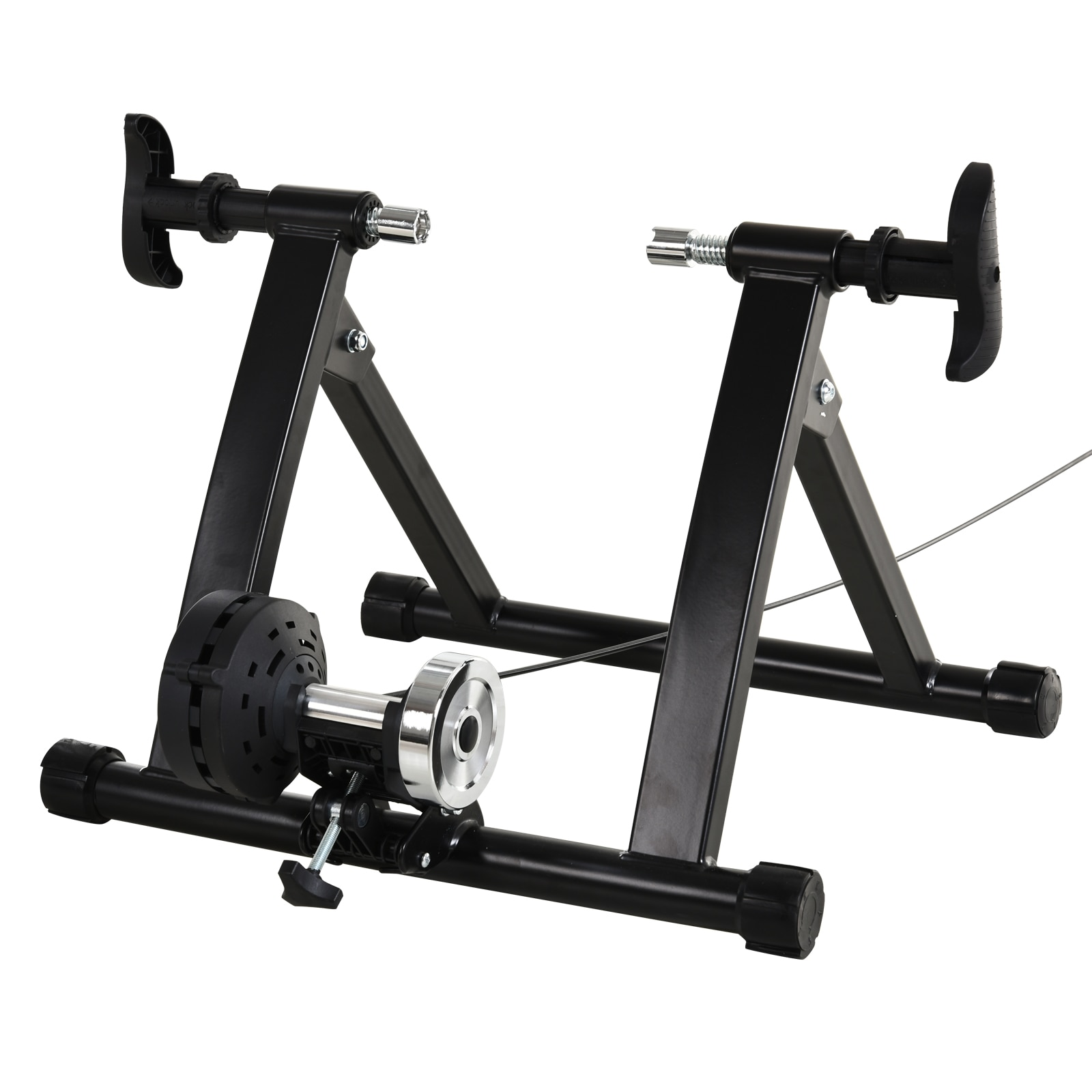 Bike roller with 8 levels resistance domestic training bike trainer exercise folding steel 120kg Black