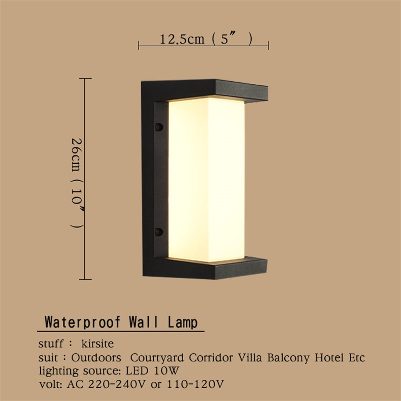 OULALA Outdoor Wall Lamps Fixture LED Sconce Lights Waterproof Contemporary Creative Decorative For Foyer Balcony Courtyard enlarge