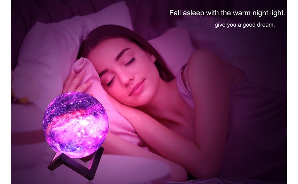 ZK20 3D Printing Moon Lamp Galaxy Moon Light Kids Night Light 16 Color Change Touch and Remote Control Galaxy Light as  Gifts enlarge