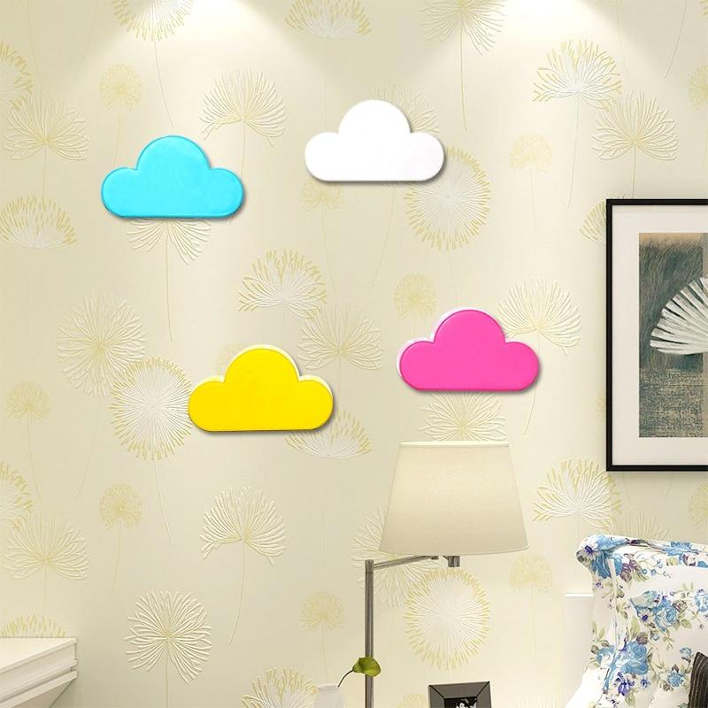 Llavero Crochet rosa amarillo nube forma imanes de suspensión magnética llavero llaves de pared con seguridad gancho de pared cocinas caseras