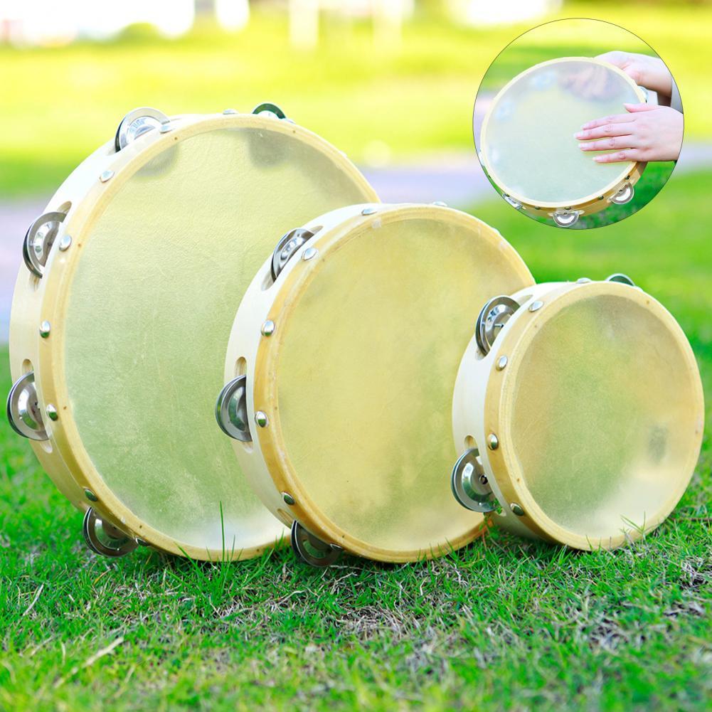 Premium Fun Children Tambourine Drum Bell Kit Environmental Protection Percussion Bell Drum Fine Polishing Birthday Gift недорого