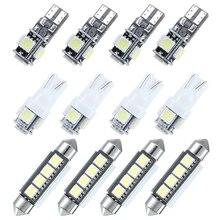 Lot de phares de remplacement W5W   12 pièces, pour Auto, carte intérieure, plaque dimmatriculation, Kit de lampes blanches pour Vauxhall Astra H