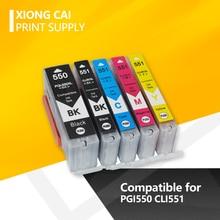 PGI550 550 CLI551 Inktpatronen Voor Canon PGI-550 Cli 551 Pixma IP7250 MG5450 MX925 MG5550 MG6450 MG5650 MG6650 MX725