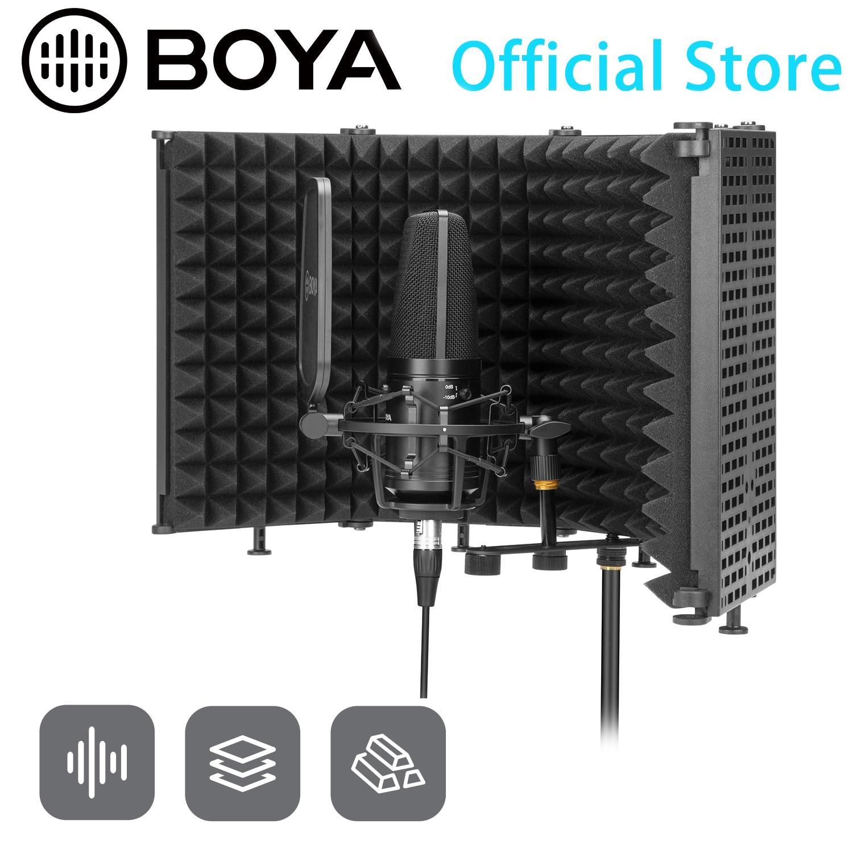BOYA BY-RF5P عزل الميكروفون درع تقليل انعكاسات الغرفة تخفيف الضوضاء غرفة للتسجيل الصوتي الشخصية بث مباشر