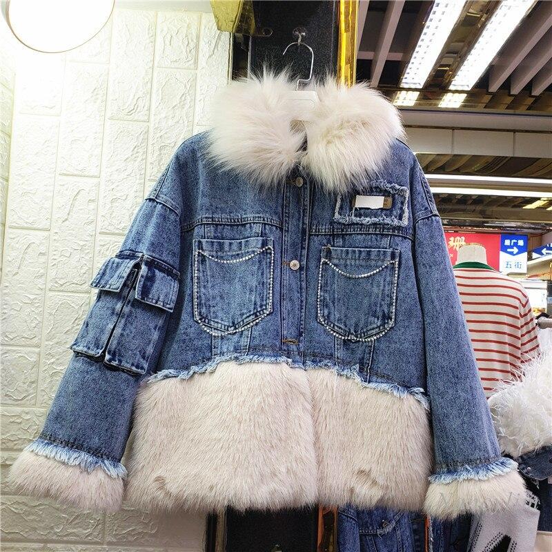 Зимняя парка с имитацией меха, модная зимняя парка, новинка, утепленное универсальное пальто для отдыха с хлопковой подкладкой