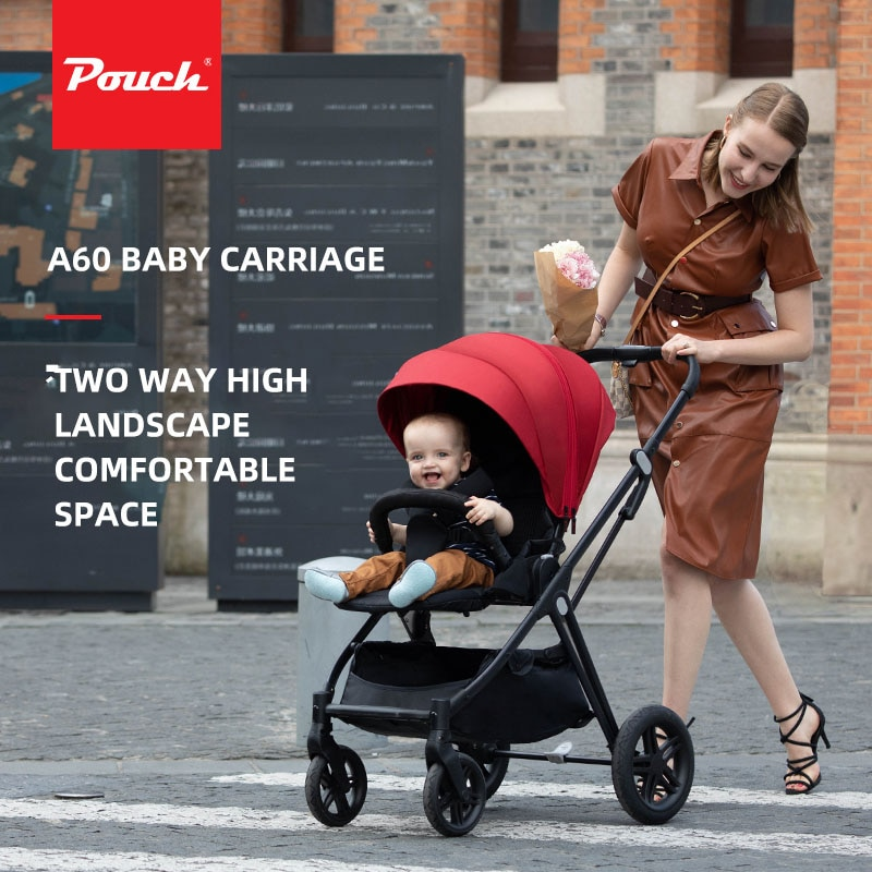 A60 Pouch Baby Stroller Two Way High View Can Sit And Lie Down Portable Folding Foldable Convenient