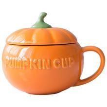1Pc 300ML créatif citrouille tasse en céramique tasse Halloween petit déjeuner tasse avec couvercle ménage cuisine accessoires