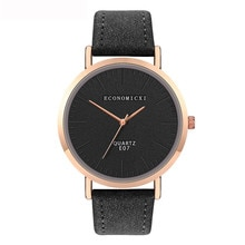Trend Style Womens Watch Leather No Scale Blank Dial Ladies Girls Watch In Quartz Watches Relogio Or