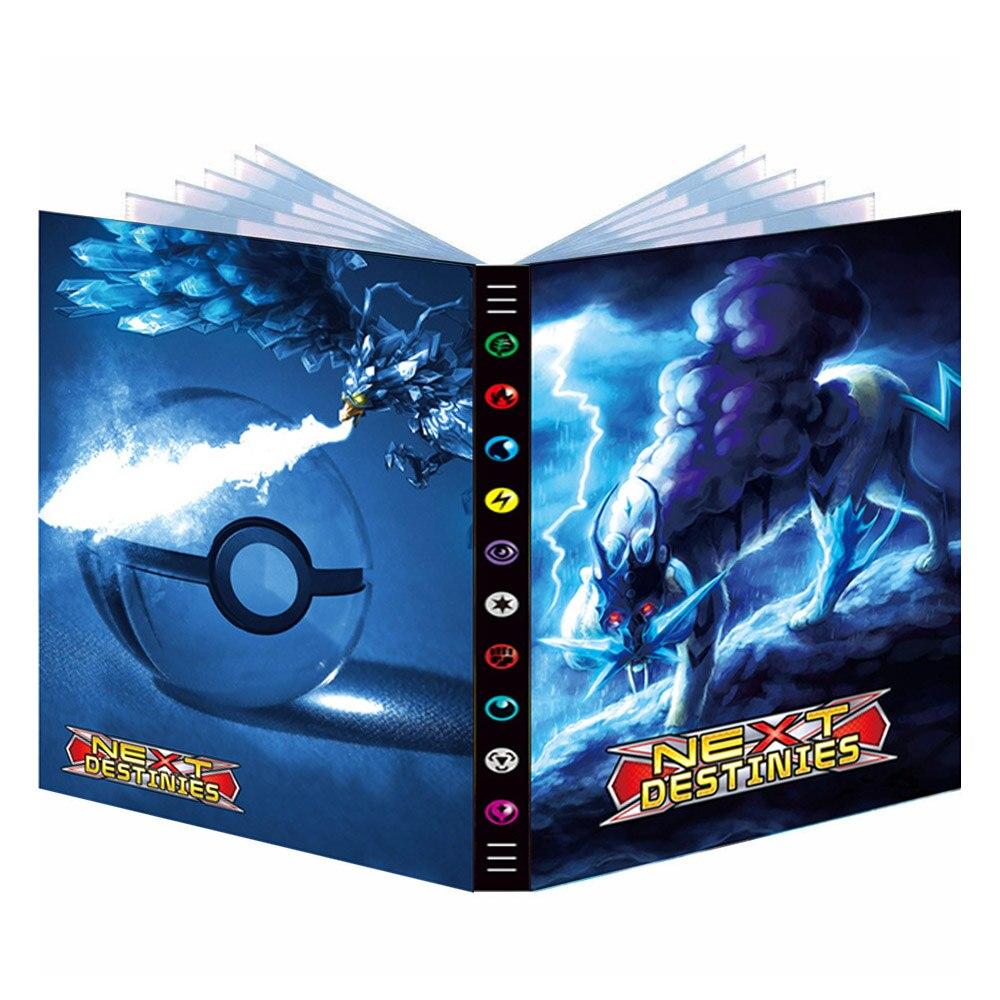Альбом Pokemon Новинка 432 шт. 9 карманных игровых карт VMAX GX держатель папка Мультяшные карты книга загруженная детский подарок