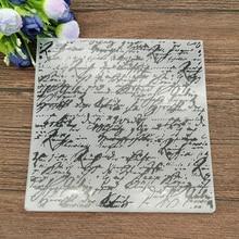 Handwritten text Flower print DIY Plastic Embossing Folders for DIY Scrapbooking Paper Craft/Card Making Decoration Supplies