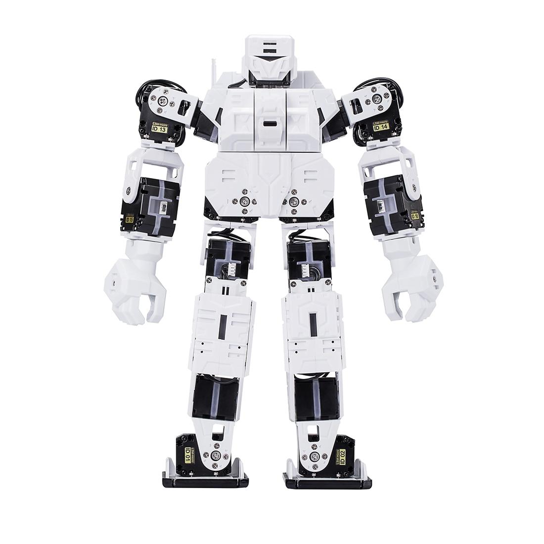 Nuevo Robot DIY de 27cm, línea de tiempo creativa, núcleo M, Kit gráfico programable de Robot humanoide, Robot Educativo, Blanco/rojo/azul